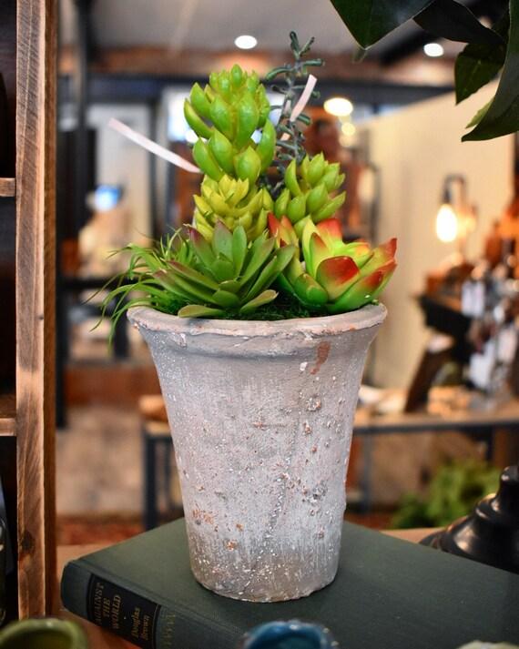 Faux Succulent Arrangement, Mothers day gift,  Succulents, Faux Succulent, Artificial Succulent,Home Decor, Rustic Arrangement,