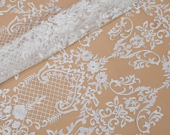 Embroidery Lace Fabric, Spitze Stoff, Die Braut Spitze Stoff, Tulle Bridal Lace Fabic, Guipure French Lace Fabric For Wedding Dress