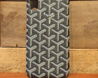 Custom iPhone 7   7 Plus   8   8 Plus   X   Xs   Xr   XS Max Goyard Black  Case 0b257441147