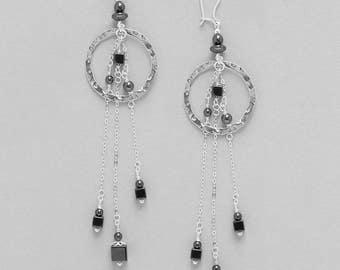 Earrings Hématite