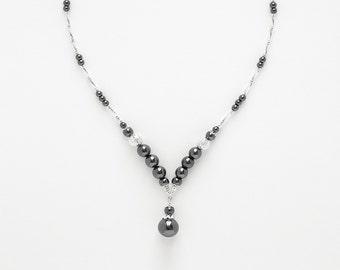 Necklace Hématite