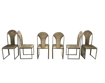 7210ad2e699e Vintage brass dining chairs by Belgo chrom