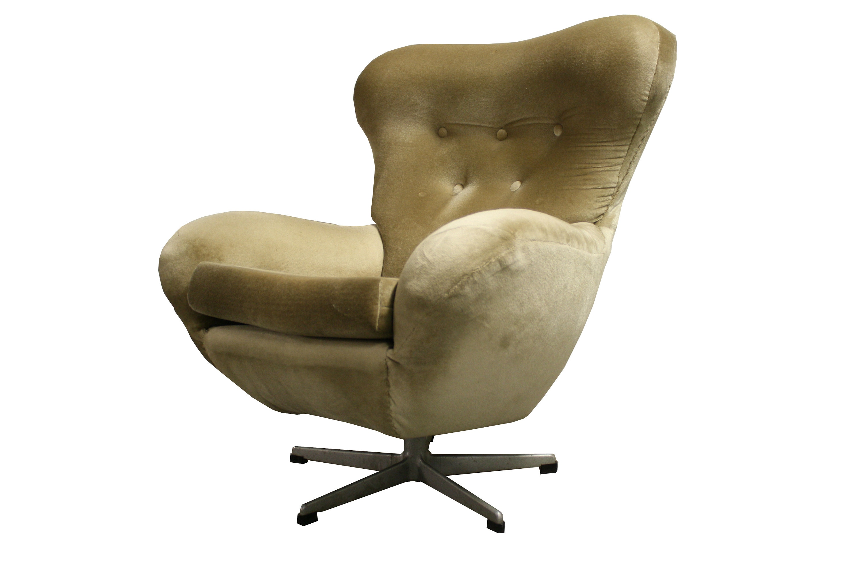 Mid Century Modern Design Egg Swivel Chair, 1960's Vintage swivel chair Lounge Chair Relax Chair Design Chair 1960's Chair
