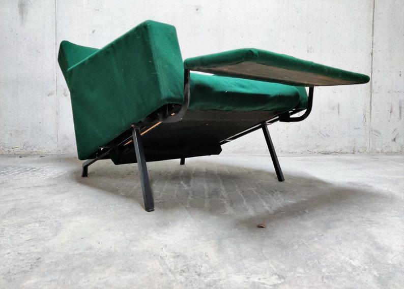 relax chair Vintage Trelax chair by Pierre Guariche for Meurop green lounge chair mid century lounge chair lounge chair 1950s