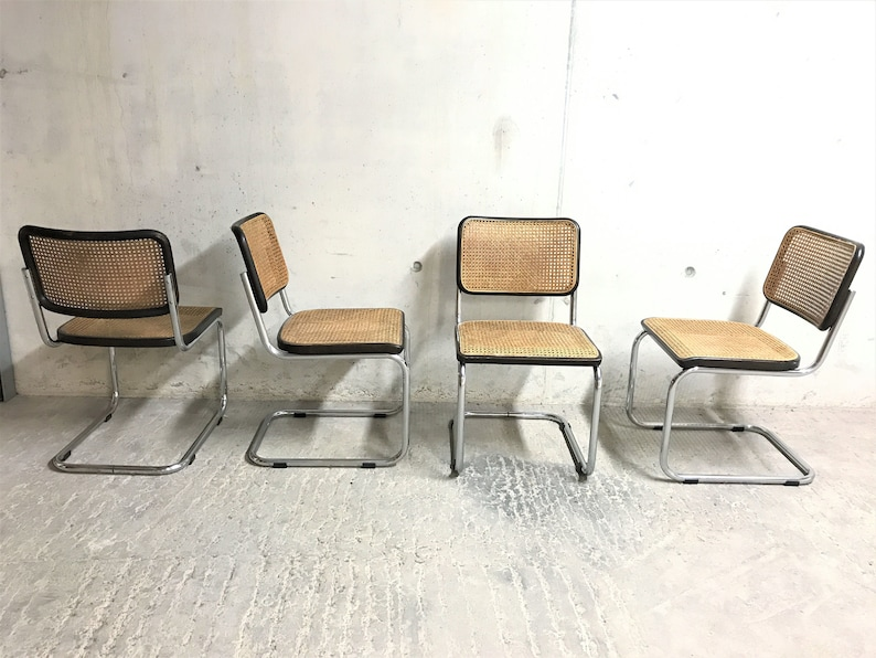 Superb Sold Set Of 4 Cesca B32 Side Chairs By Marcel Breuer For Thonet Black Cesca Chairs Marcel Breuer Dining Chairs Bauhaus Dining Chair Pdpeps Interior Chair Design Pdpepsorg