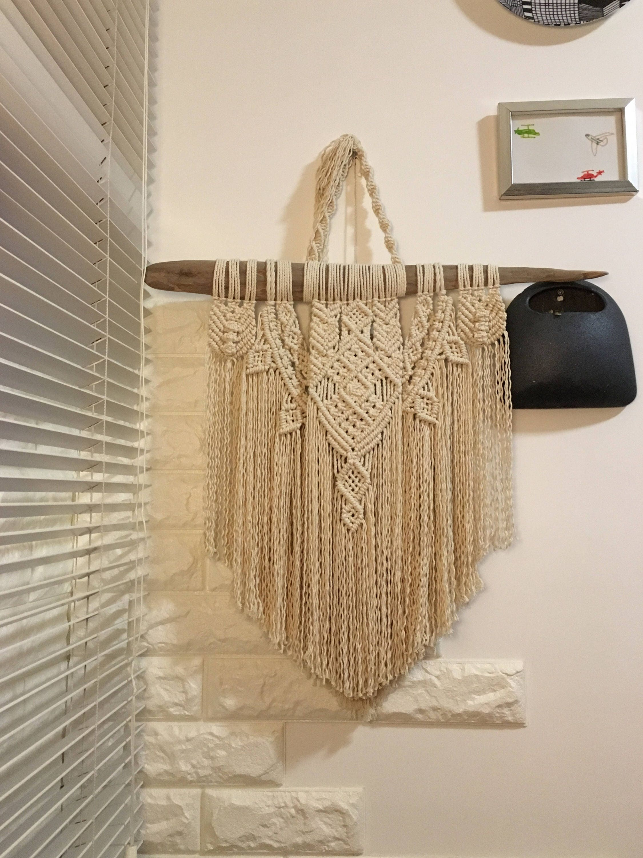 bois flott en macram tenture murale coton corde. Black Bedroom Furniture Sets. Home Design Ideas