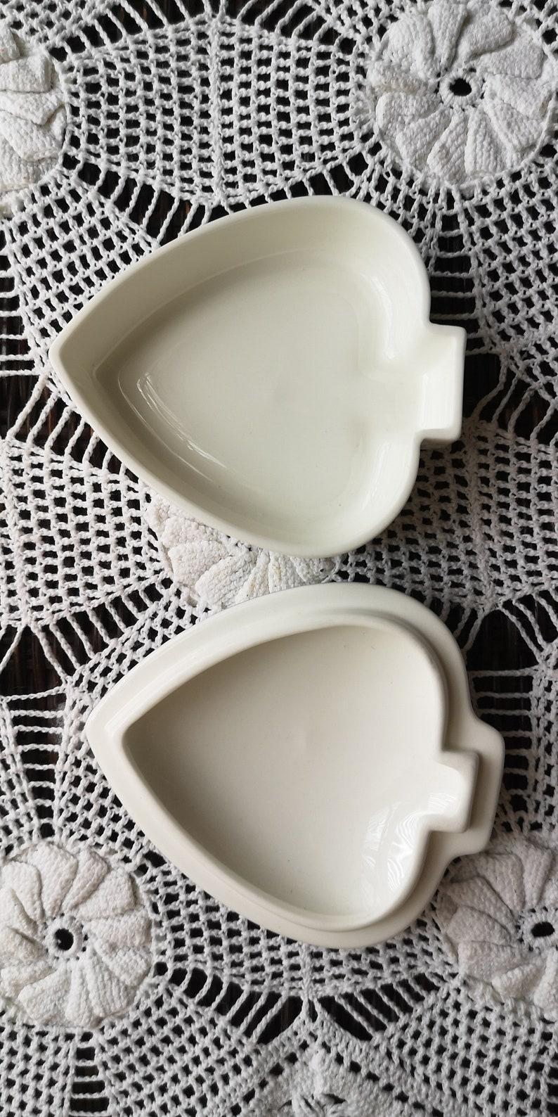 Vintage Wedgwood bone china Heart Jewellery Trinket Box England
