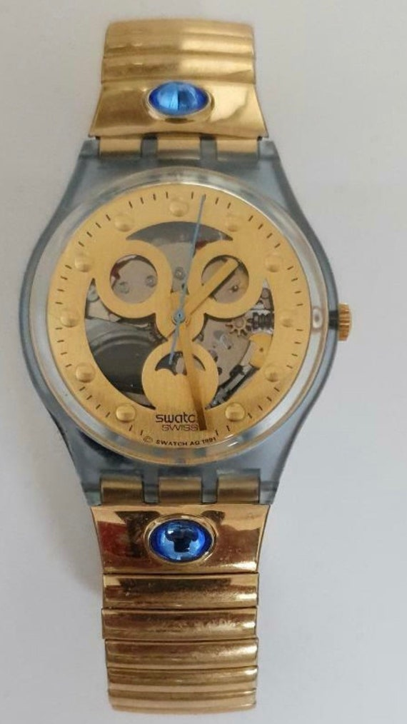 RARE Swatch Gold Smile Like new 1992