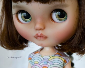 Toffee - custom FBL Blythe Cherie Babette OOAK art doll  by OneSweetyDoll