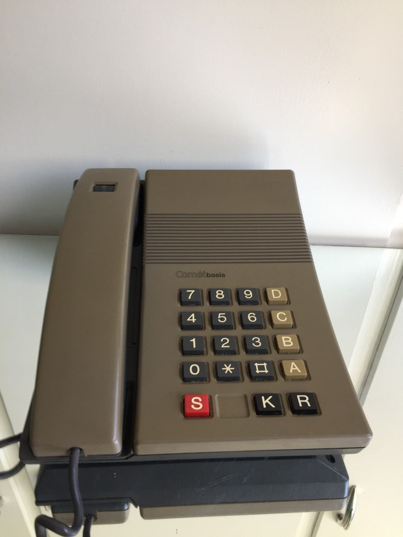 Danish Vintage Phone  Designed By Jacob Jensen 1976