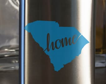 South Carolina State Flask- Color and Custom options- Stainless Steel - perfect for gifts- friends, family, groomsmen, bridesmaids, etc.