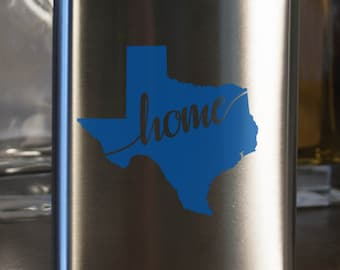Texas State Flask- Color and Custom options- Stainless Steel - perfect for gifts- friends, family, groomsmen, bridesmaids, etc.