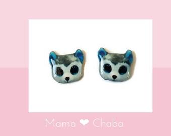 d10720f3b7c Husky Beanie Boo Earrings