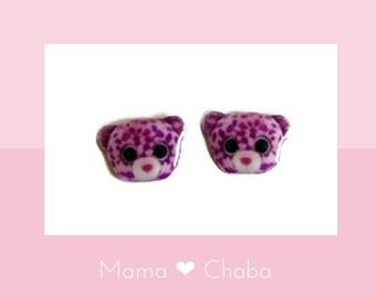 d0364cbbf18 Pink Leopard Earrings