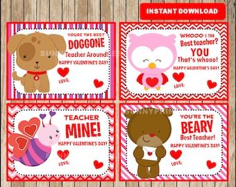 image relating to Printable Valentine Card for Teacher named Printable Adorable Animal Valentine Playing cards Be My Valentine playing cards