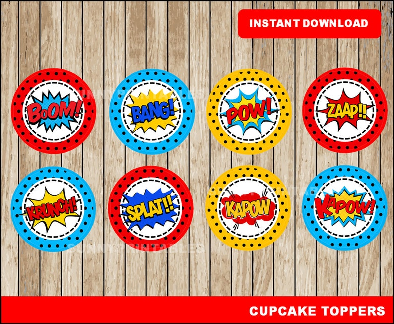 photo regarding Superhero Cupcake Toppers Printable identified as Superhero cupcakes toppers; printable Tremendous Hero toppers, Superhero bash toppers fast obtain