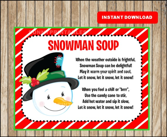 This is a picture of Snowman Soup Printable with mug