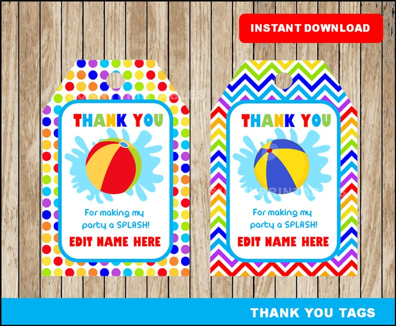 graphic regarding Beach Ball Printable called Seaside Ball Occasion tags, printable Seashore Ball Social gathering Owing Tags, Seashore Ball Bash printable tags prompt down load