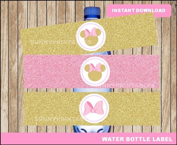 photo about Free Printable Minnie Mouse Water Bottle Labels referred to as Purple and Gold Minnie Mouse h2o bottle labels; printable Minnie Crimson and Gold h2o, Minnie Mouse drinking water bottle fast obtain