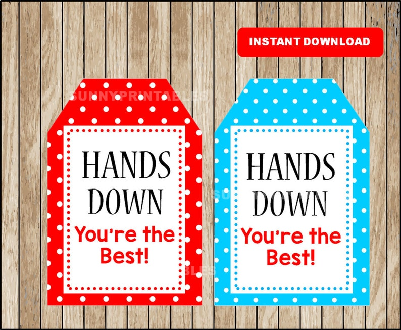 image about Hands Down You're the Best Printable named Personnel Appreciation Playing cards , Workers Appreciation Reward tags , Printable Arms Down Youre the Perfect Playing cards instantaneous obtain