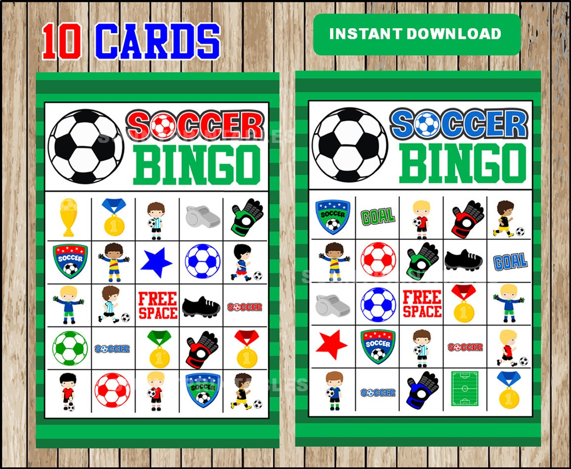 image about Free Printable Football Bingo Cards named Printable 10 Football Bingo Playing cards; printable Football Bingo Sport, Football Sport for Little ones fast obtain