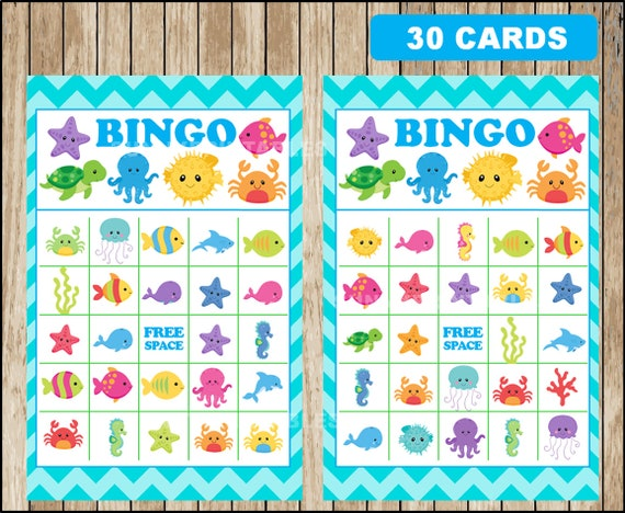 photo regarding Under the Sea Printable called Printable 30 Down below The Sea Bingo playing cards; printable Beneath The Sea Bingo activity, Beneath The Sea celebration Video game instantaneous obtain