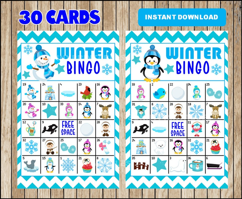 photograph regarding Winter Bingo Cards Free Printable titled Printable 30 Winter season Bingo Playing cards; printable Snowman Bingo match, Wintertime printable bingo playing cards immediate down load