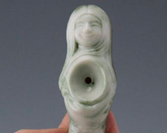 Oxide washed Meramaid Ceremonial Pipe