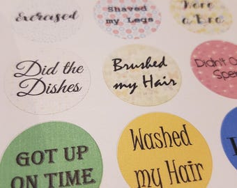 Adult Reward Stickers, you deserve a sticker because adulting is hard! Perfect for bullet journals, diaries, planners.