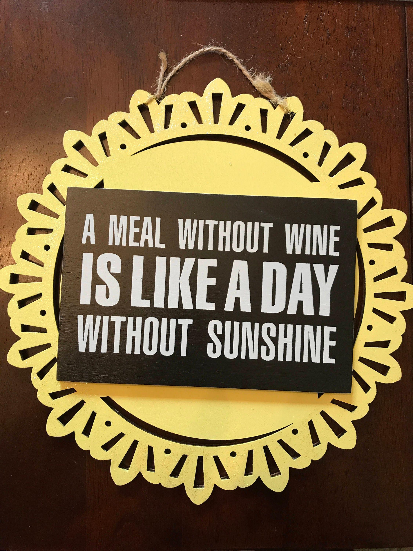 Sunshine and wine wall art | Etsy