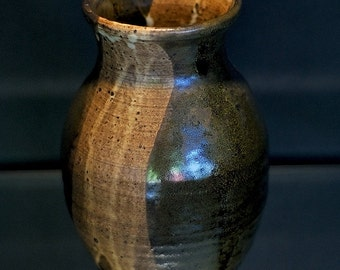 """8"""" Kiln Fired Pottery Vase: One Of A Kind/Hand Made."""