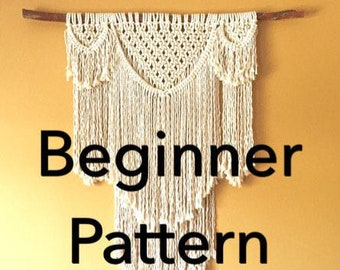BEAUREGARD Macramé Pattern BEGINNER//Wall Hanging pdf DIY Swag Design Basic Instructions Macrame Fiber Arts Pattern Only