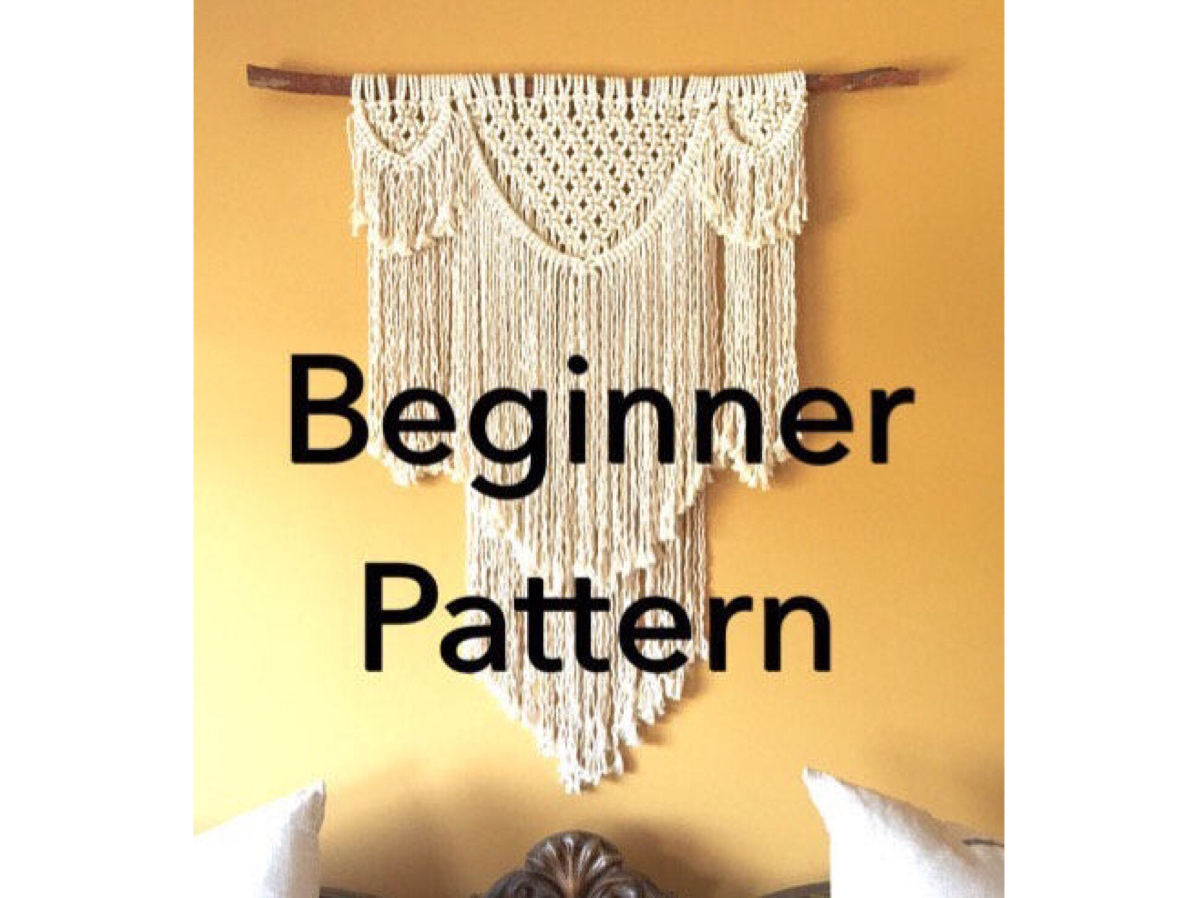 BEAUREGARD Macramé Pattern BEGINNER//Wall Hanging pdf DIY Swag | Etsy