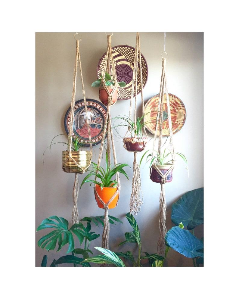JONI Simple Jute Macramé Plant Hangers//Minimalist Elegant image 0