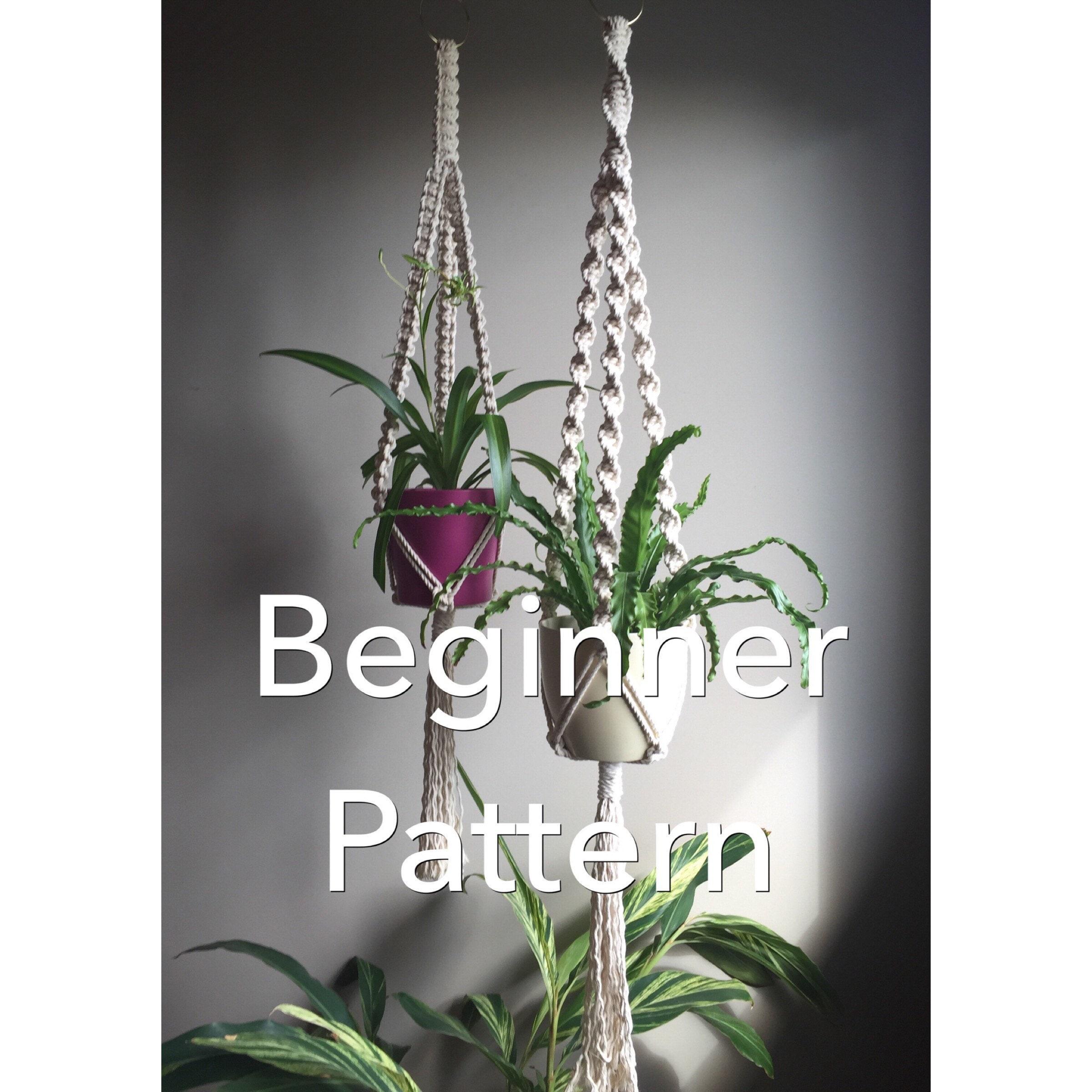 Trinity Macrame Pattern Beginner Plant Hanger Pdf Diy 4 Etsy