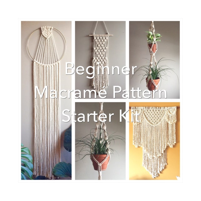 Beginner Macram Pattern Starter Kit5 Beginner Patterns Pdf Etsy