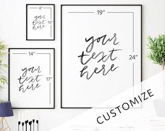 Custom Hand-Lettered Print
