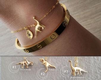 Triceratops, T-Rex, Brachiosaurus Bracelet Dinosaur jewelry initial Bracelets mother bracelet Christmas birthday gifts Personalized Jewelry