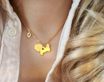 Delicate Heart Rabbit necklace,Bunny necklaces,initial leaf necklace,Layering necklace,Tiny Necklace ,Bridesmaid Gift, valued gift