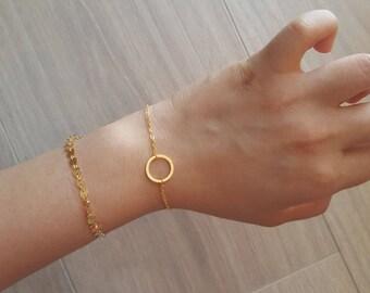 Delicate Petite Gold Bar Bracelets,Delicate be brave bar Bracelet,Thin Gold Chain Layering Bracelet Bridesmaid Gift