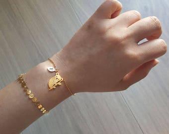 Delicate Petite Koala Bracelets Delicate Koala Bracelet  Bear bracelet Wedding bracelet Bridesmaid gift initial bracelet best friends animal