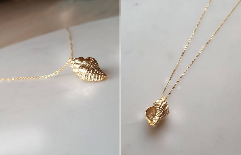 unique Necklace Delicate 18k gold Shell necklace,Ariel voice necklaces,sea shell necklace Bridesmaid Gift,best friends necklace,birthday