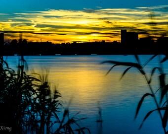 Sunset at Charles River