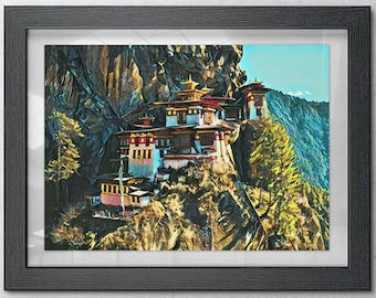 Tiger Nest Paro Taktsang Limited Release Puzzle by Bhutan Natural