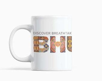 Bhutan Motifs Designed Porcelain Mug