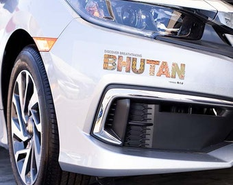 Bhutan Motifs Decal Vinyl Stickers for Automobile Cars Laptops and Windows