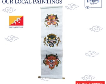 Bhutan Natural Handcrafted Painting Jungshi Handmade Paper Factory Traditional Paper Making
