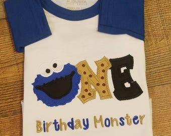 G Cookie Monster Shirt Birthday Elmo Customized