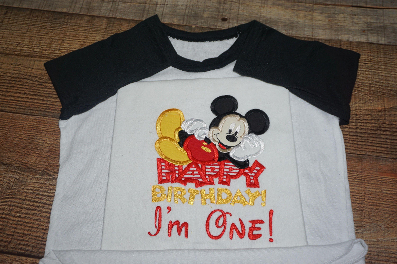 G Mickey Mouse Birthday Shirt Celebrating