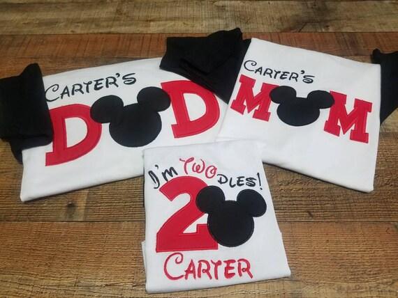 Celebrating Mickey Family Pack 2nd Birthday Shirt